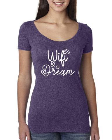 Wifi & a Dream Ladies Scoop Tee