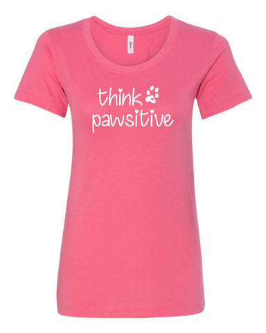 Think Pawsitive Crew Neck Tee