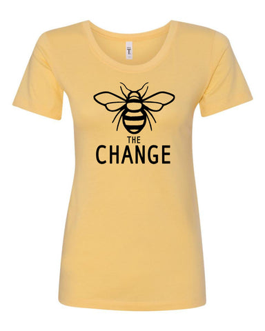 Bee The Change Ladies Crew Neck Tee