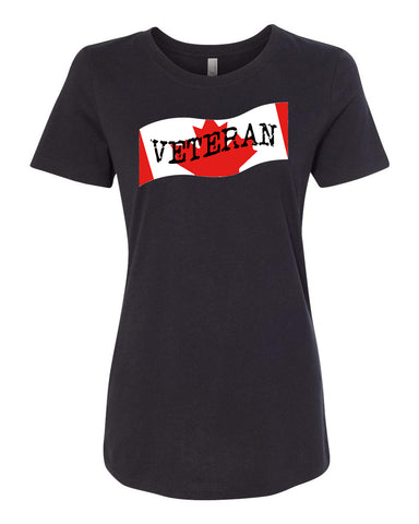 Veteran Ladies Crew Neck Tee
