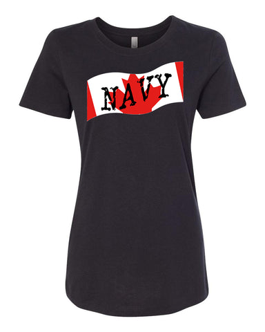 Canadian Navy Ladies Crew Neck Tee