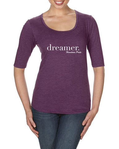 Dreamer - Ladies Deep Scoop Half Sleeve