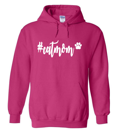 #catmom Hoodies