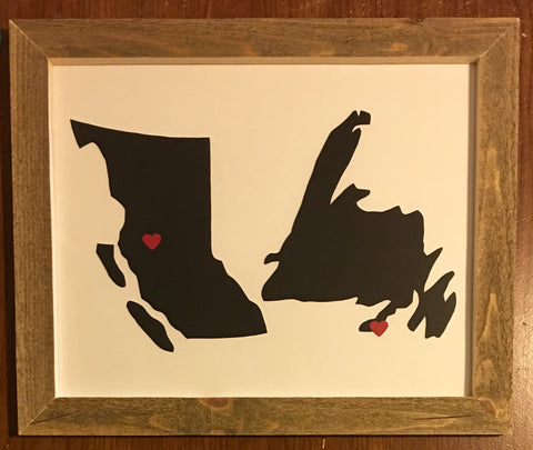 11 x 14 British Columbia & Newfoundland Hometown Pride