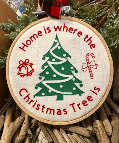 Home is where the Christmas Tree is Ornament