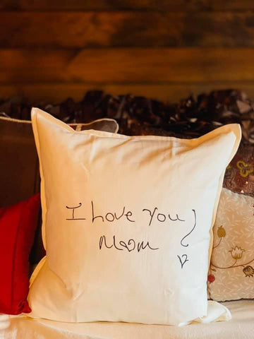Handwriting Pillow Cover