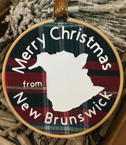 New Brunswick Christmas Ornament