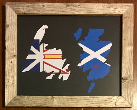 11 x 14 Newfoundland & Scotland Hometown Pride