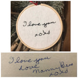 Custom Handwriting Ornament