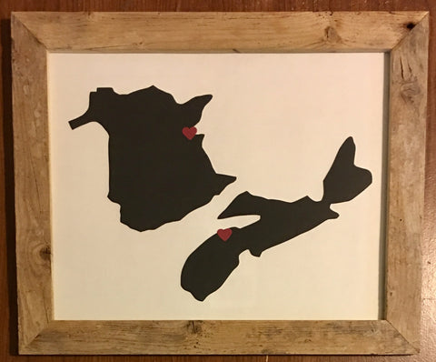 11 x 14 New Brunswick & Nova Scotia Hometown Pride