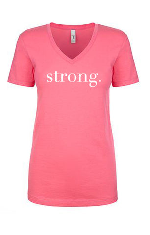 Strong. V-Neck Tee