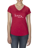 Love - Ladies V-Neck T-Shirt