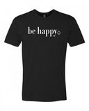 Be Happy Men's Crew Neck Tee
