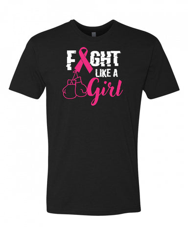 Fight Like A Girl Men's Crew Neck Tee