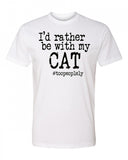 I'd Rather Be With My Cat Men's Crew Neck Tee