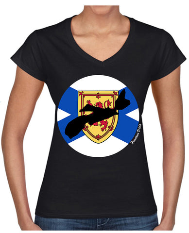 Women's V-Neck Nova Scotia Hometown Pride T-Shirt