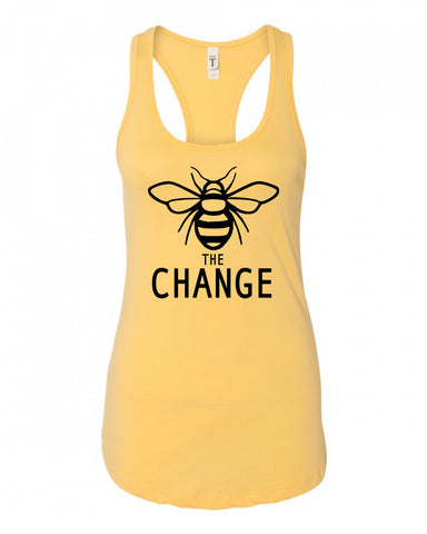 Bee The Change Ladies Racerback Tank