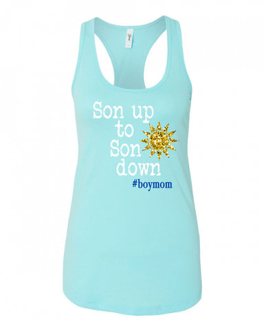 Son up to Son down Racerback Tank