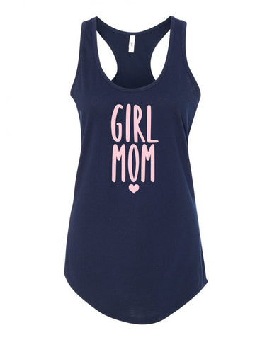 Girl Mom Racerback Tank