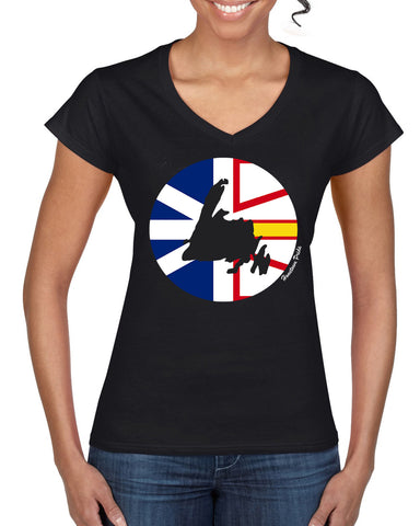 Women's V-Neck Newfoundland Hometown Pride T-Shirt