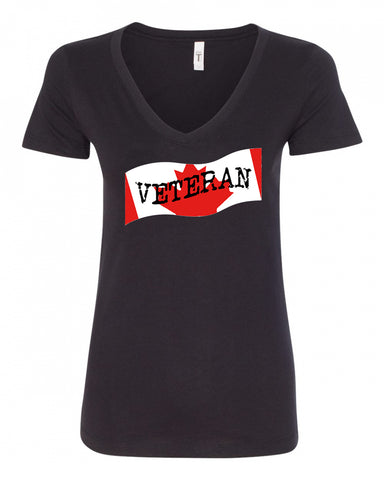 Veteran Ladies V-Neck Tee