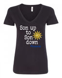 Son up to Son down V-Neck Tee