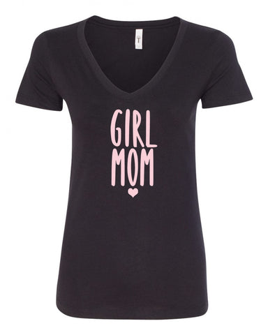 Girl Mom V-Neck Tee
