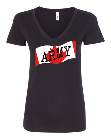 Canadian Army Ladies V-Neck Tee
