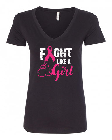 Fight Like A Girl V-Neck Tee