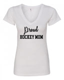 Proud Hockey Mom V-Neck Tee
