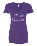 Proud Dance Mom V-Neck Tee