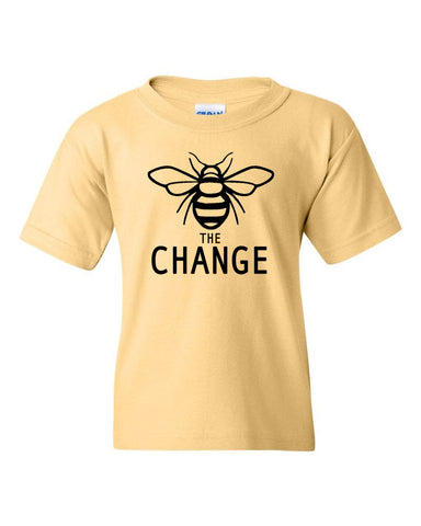 Bee The Change Youth Crew Neck Tee