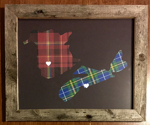 11 x 14 New Brunswick & Nova Scotia Hometown Pride - Driftwood Memories