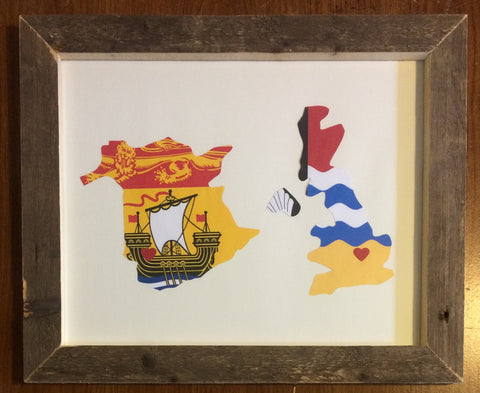 11 x 14 New Brunswick & United Kingdom Hometown Pride - Driftwood Memories