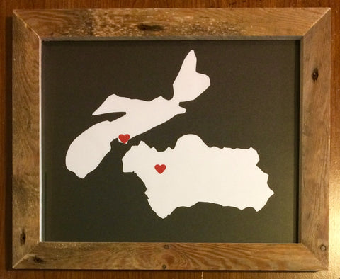 11 x 14 Nova Scotia & Seville (Spain) Hometown Pride - Driftwood Memories