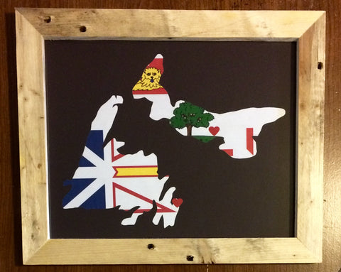 11 x 14 Newfoundland & Prince Edward Island Hometown Pride - Driftwood Memories