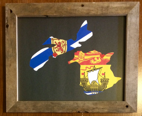 11 x 14 Nova Scotia & New Brunswick Hometown Pride - Driftwood Memories