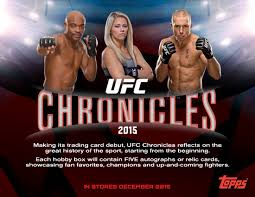 Pick a Pack 2015 Topps Chronicles UFC 4 SALE