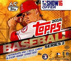 0b12c0ec6c Pick a Pack 2016 Topps Series 2 Jumbo MLB 3 SALE – Wake Forest Hobby
