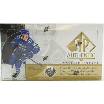 Pick a Pack 2018-19 SP Authentic Hockey 3