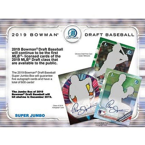 Pick a Pack 2019 Bowman Draft SUPER Jumbo MLB 2