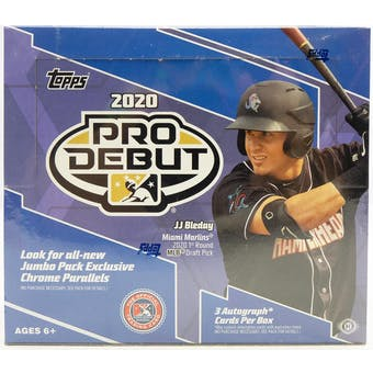 Pick a Pack 2020 Pro Debut Jumbo MLB 2