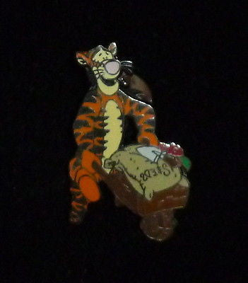 Disney Tigger With Gardening Wheelbarrow Pin