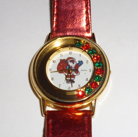 Christmas Santa Claus Gemstones Watch