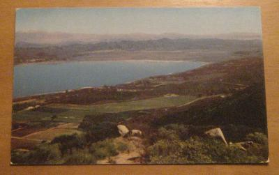 Vintage View Over Temecula Valley Elsinore California Postcard