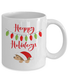 Christmas Happy Holidays Hedgehog Coffee Mug