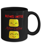 Before Coffee After Coffee Faces Coffee Mug