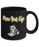 Draw Your Life Panda Bear Coffee Mug