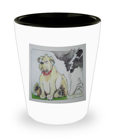 Dog Farting Dead Airspace Funny Shot Glass
