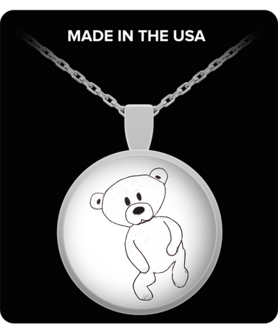 Baby Bear Cub Teddy Bear Pendant Necklace